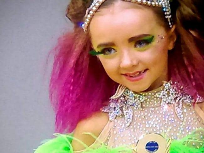 Layla Thompson's mother says she spends thousands on make-up, clothes and bling on the seven-year-old. Picture: North News and Pictures