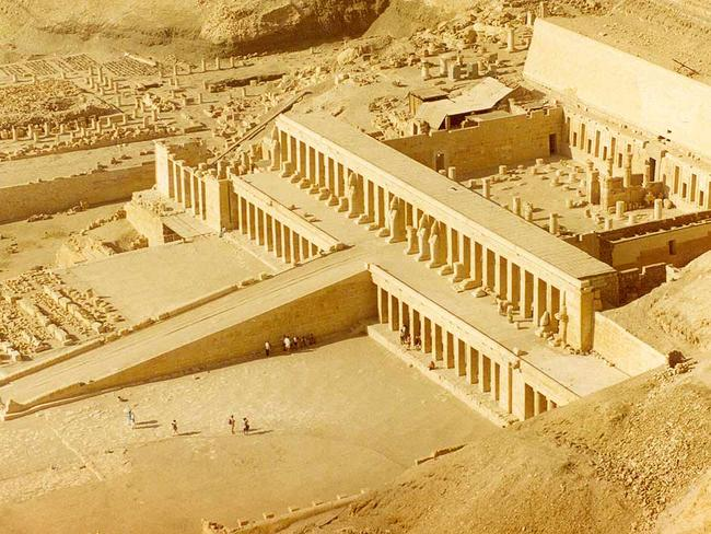 Scene of awe and horror ... the temple where visitors where hunted down among the columns. Credit: Wikipedia