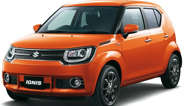 Orange crush ... the Suzuki Ignis is due on sale in Australia later this year. Picture: Supplied.