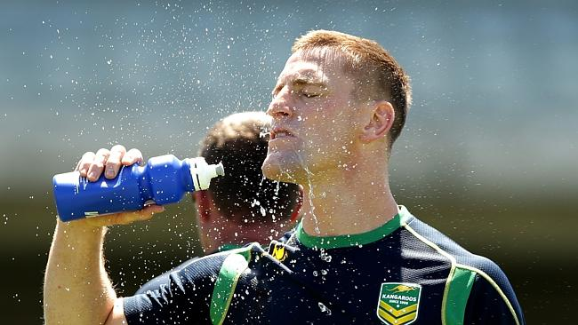 Brent Tate trains with the Kangaroos.