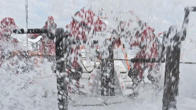 The yacht Sanya battling brutal conditions in the last Volvo Ocean Race.