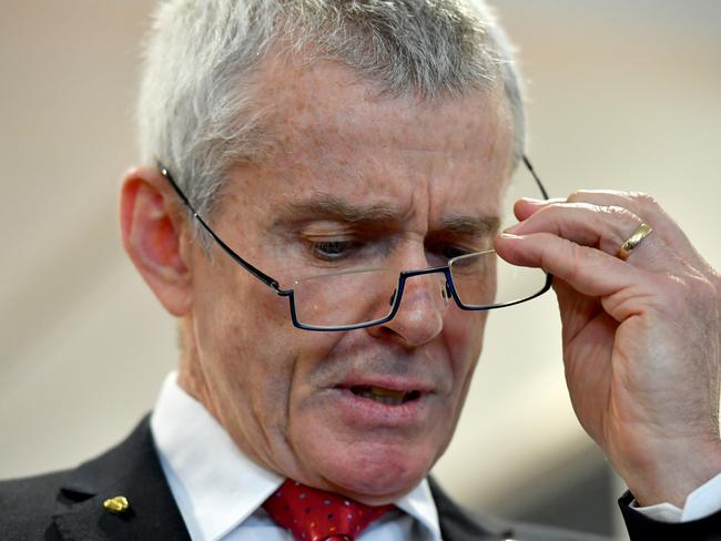 One Nation Senator Malcolm Roberts was then referred to the High Court by leader Pauline Hanson over questions on his citizenship. Picture: AAP