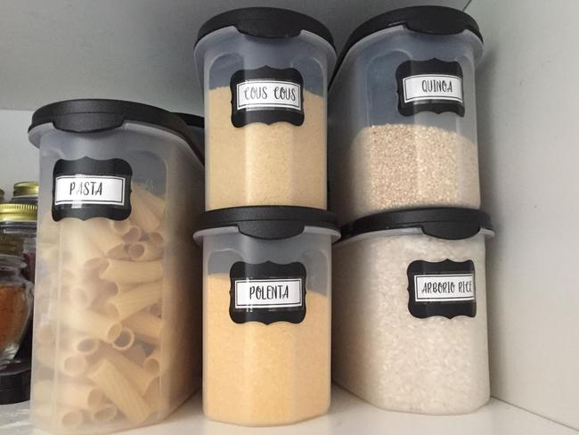 """These containers are Tupperware """"dupes"""" from Kmart."""