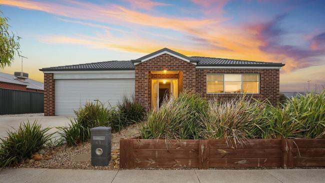 The four-bedroom house at 41 Cape Barron Drive, Lara, will also appear on the program.