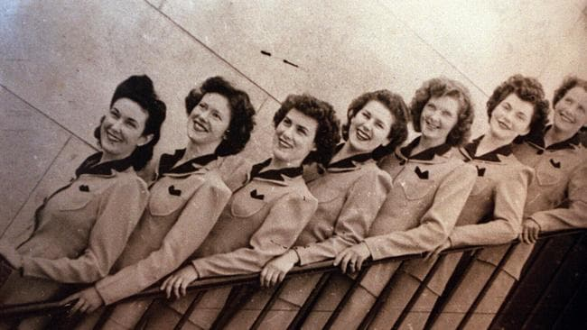 SA usherettes from Metro picture theatre, Hindley Street. ushers cinema 1940s historical