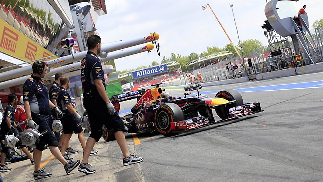"""""""This has nothing to do with racing anymore. This is a competition in tyre management,"""" Red Bull boss Dietrich Mateschitz has said of the current state of F1. Picture: Alexander Klein"""