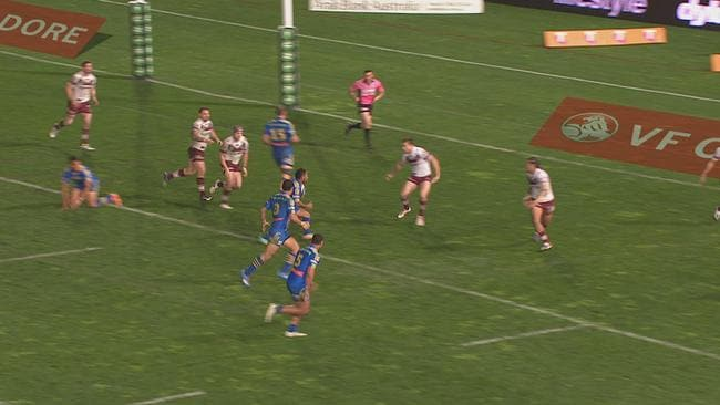 Chris Sandow's disallowed try.