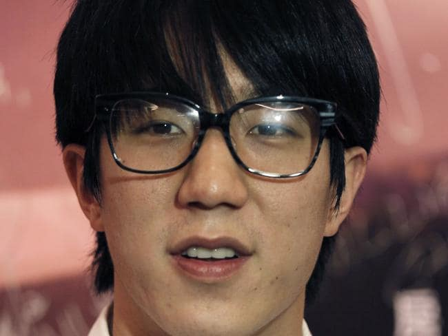 Jackie Chan's son Jaycee Chan has been arrested over drug charges in Beijing. Pic: AP.