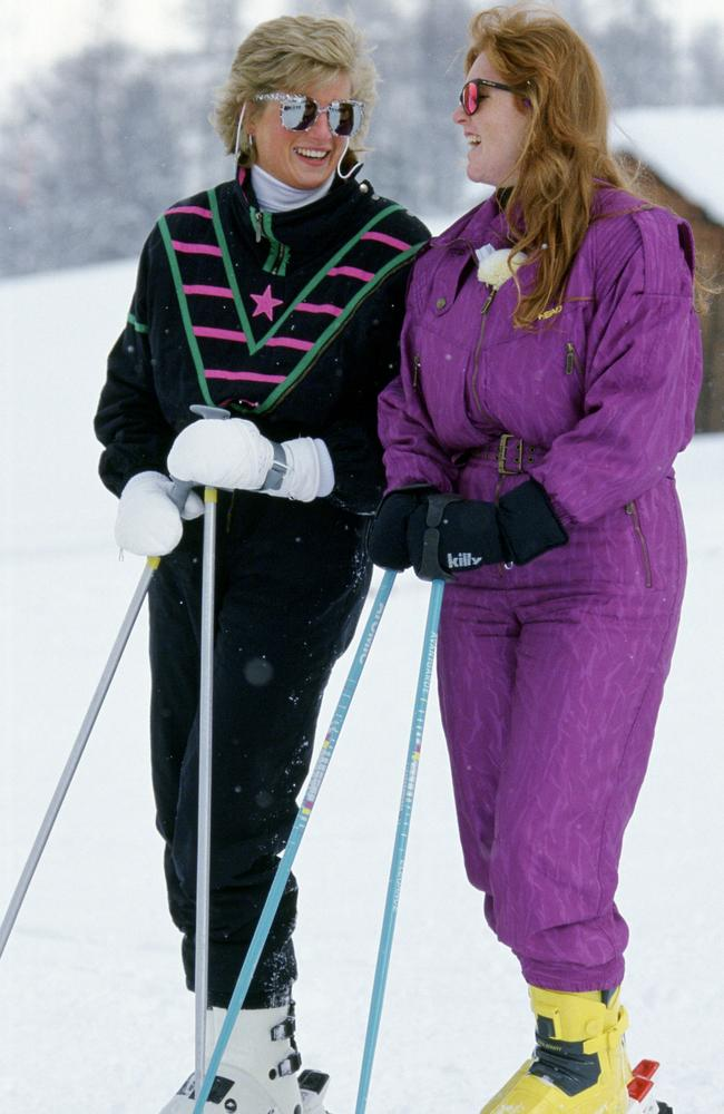 'No one made me laugh like her.' Diana, left, had Fergie in stitches on the ski slopes. Picture: Getty Images