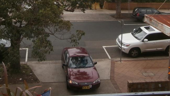 A Car Blocks The Drive In Burlington St August 2014