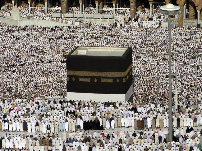 Thousands of Muslim pilgrims perform the Hajj in Mecca, Saudi Arabia, in 2006. Picture: Khalil Hamra / AP Photo