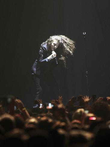 Lorde in concert at Challenge Stadium. Picture: Sean Middleton
