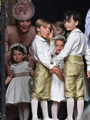 Kate and the children.