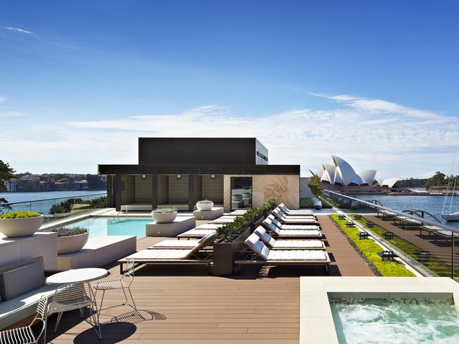 The rooftop pool at the Park Hyatt. Picture: Destination NSW