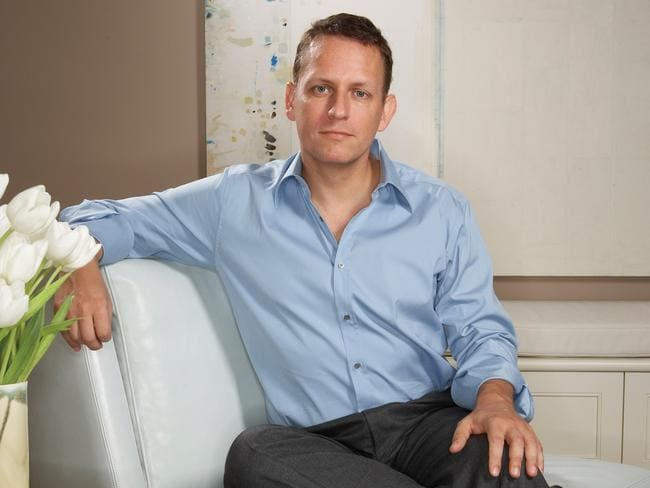 Influential businessman … Peter Thiel in his San Francisco office.