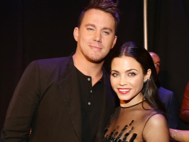 Channing Tatum (L) and his beautiful wife Jenna Dewan-Tatum.
