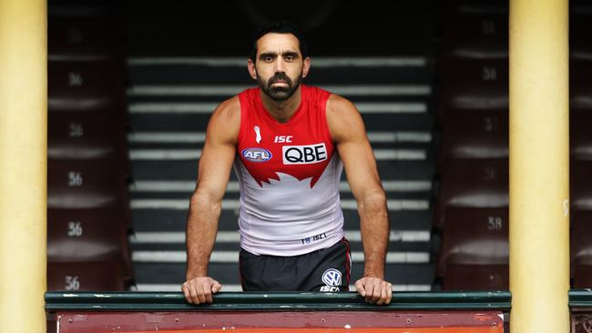 Swans captain Adam Goodes is an ambassador for White Ribbon Day against domestic violence.