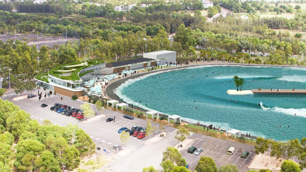 An Artist Impression Of The Urbnsurf Artificial Wave Pool