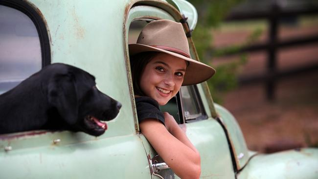 Mosey on down to the 2018 Easter Show. Ella Darmanin with her dog Lou Lou. Picture: Jeff Darmanin