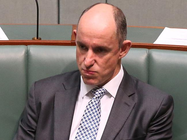 Minister for Human Services and Veterans Affairs Stuart Robert in Question Time. Picture: Kym Smith