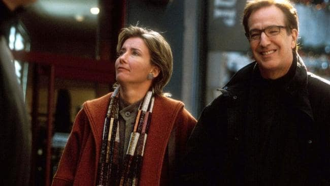 Thompson with Alan Rickman in Love Actually