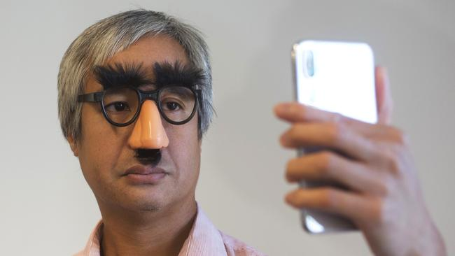 If you're wearing glasses, the iPhone can still recognise you using other parts of your face, within reason. Picture: Mark Lennihan