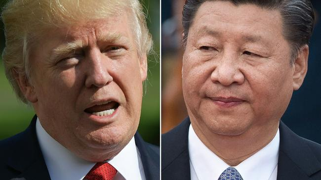 US President Trump and Chinese President Xi Jinping have both sanctioned North Korea. Picture: AFP