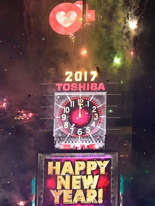 The New Year's Eve Countdown at Times Square, New York. Picture: Getty