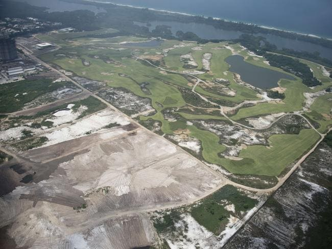 There is still a considerable amount of work to be done on the controversial golf course.
