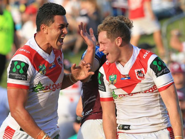 The Dragons well and truly made a statement against Manly last week. Pic Mark Evans