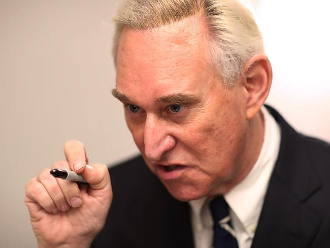 Mr Nunberg said Roger Stone, a longtime political adviser and friend to President Donald Trump, was like family to him. Picture: Joe Raedle/Getty Images/AFP