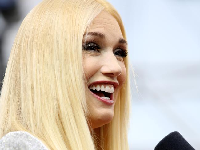 Gwen Stefani on the red carpet at the Emmy Awards.