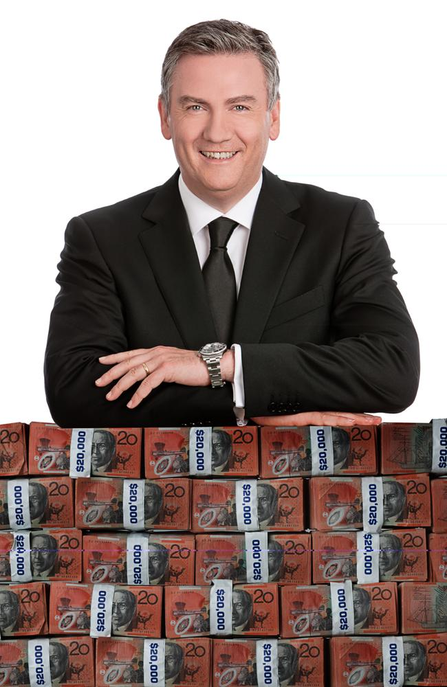 Hot Seat ... Whitney Beseler did not get any of this money from Millionaire Hot Seat host Eddie McGuire. Picture: Supplied