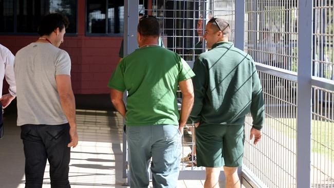 Inmates in prison greens. Picture: News Limited.