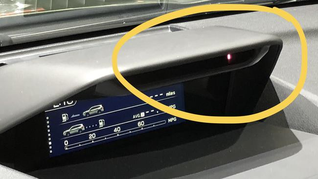 A camera on the dash monitors the driver's face. Picture: Supplied.