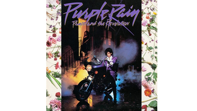The Purple Rain album cover.
