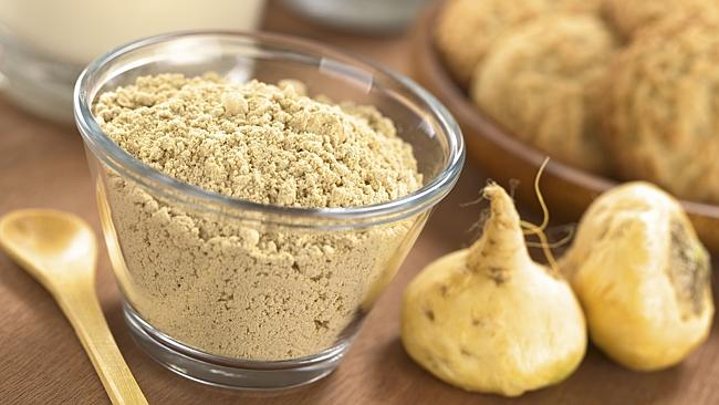 Maca powder is derived from the maca root.