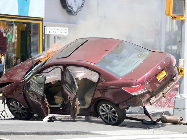 """Witnesses said they heard """"thuds"""" as the car barrelled into the crowd. Picture: Diimex."""