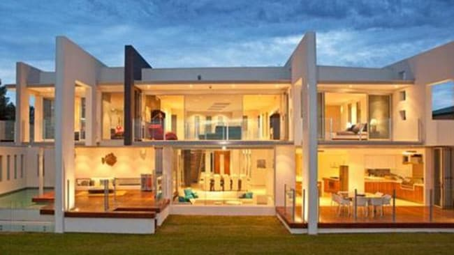 A very contemporary beachfront home at Lanceline in Perth. Picture: Unique Estates.