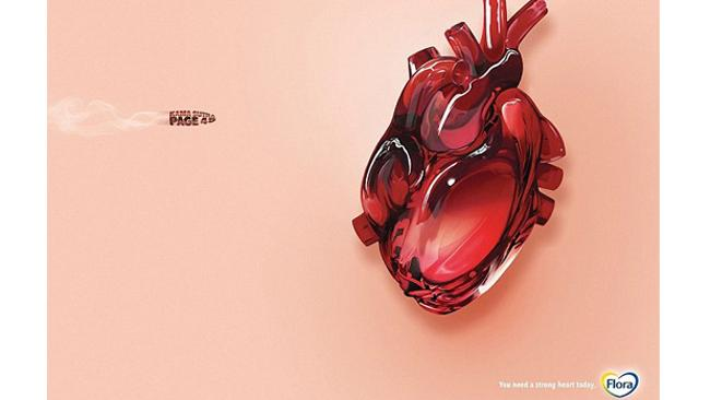 The Flora campaign includes a similar ad referencing the Kama Sutra.