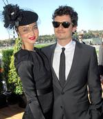 <p>Racy couple ... Actor Orlando Bloom and his girlfriend, Australian actress and top model Miranda Kerr, arrive for Doncaster Day at the Royal Randwick Racecourse in Sydney April 26, 2008.</p>