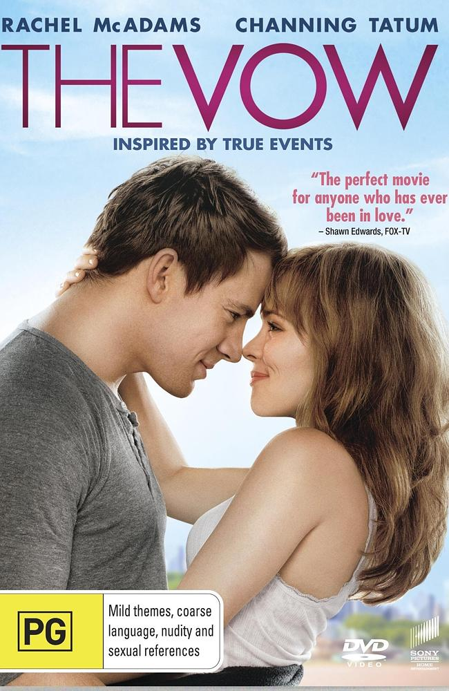 Cover of DVD for film 'The Vow'.