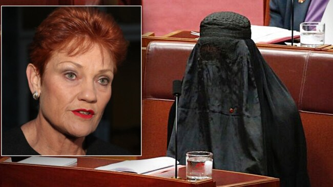 Pauline Hanson: Before and after.