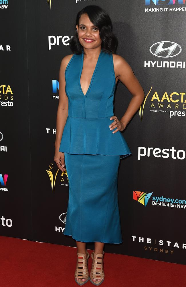Miranda Tapsell arrives ahead of the 5th AACTA Awards Presented by Presto at The Star on December 9, 2015 in Sydney, Australia. Picture: AAP
