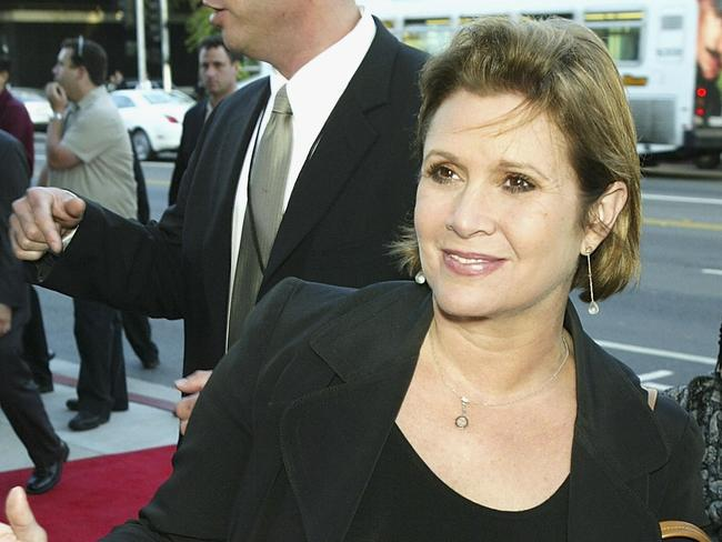 Carrie Fisher died in December last year. Picture: AFP/Getty Images North America/Kevin Winter