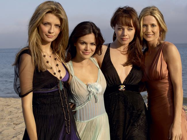 Real TV stars of Orange County ... left to right, Marissa (Mischa Barton), Summer (Rachel Bilson), Julie (Melinda Clark) and Kirsten (Kelly Rowan).