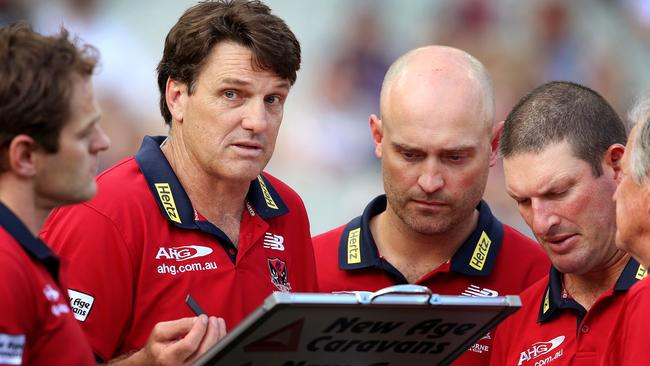 Paul Roos has come under fire after the Demons kicked just three goals against Collingwood.