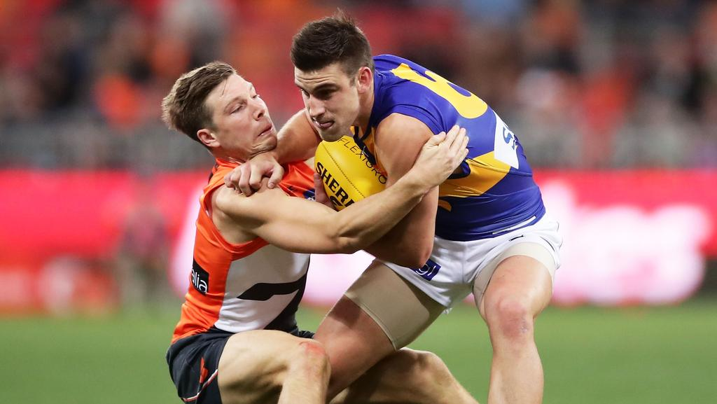 Elliot Yeo will have the task if stopping Toby Greene. Photo: Matt King/Getty Images