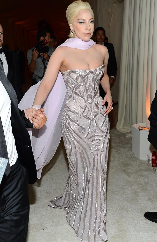 Lady Gaga attends the 22nd Annual Elton John AIDS Foundation's Oscar Viewing Party on Mar