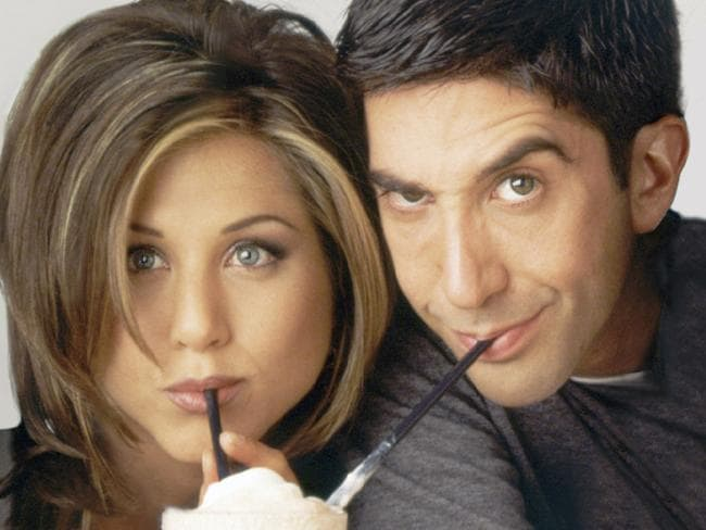 Rachel and Ross ... Jennifer Aniston and David Schwimmer in Friends. Picture: NBC/NBCU Photo Bank via Getty Images